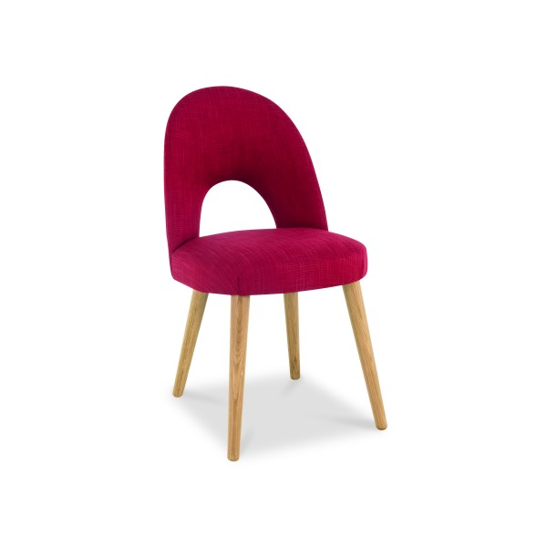 Lavenham Upholstered Chair – Postbox Red