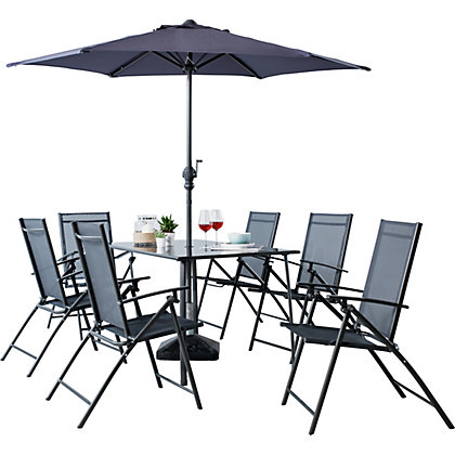 Italia 6 Seater Patio Set