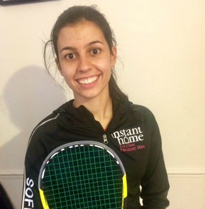 Introducing Cambridgeshire's brightest new squash star – now sponsored by Instant Home