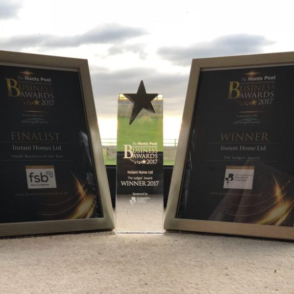 Instant Home takes home the Judges Award at The Hunts Post Huntingdonshire Business Awards 2017